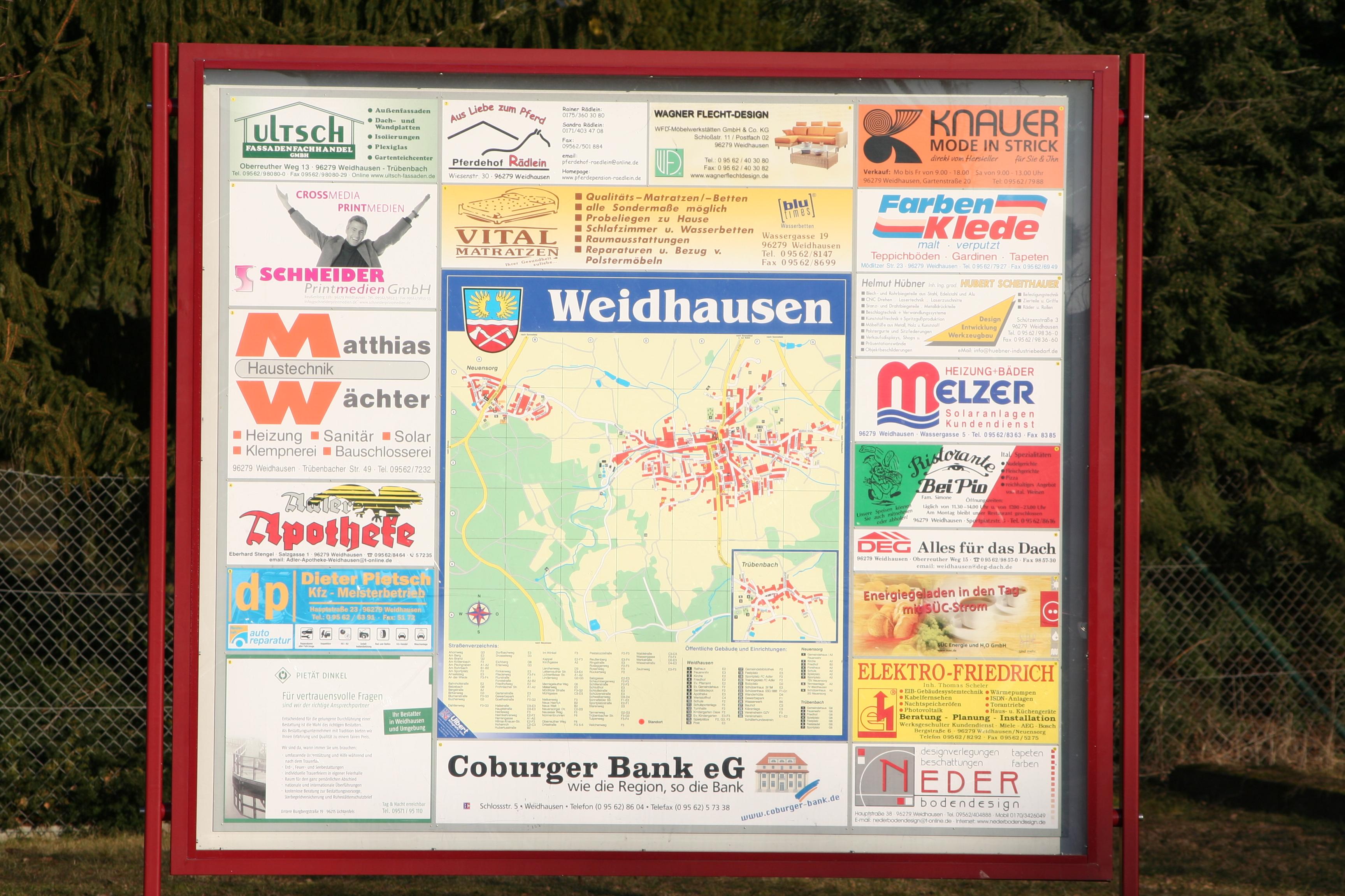 Ortsplan von Weidhausen