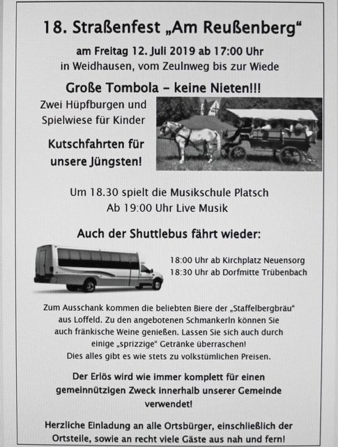 """18. Straßenfest """"Am Reußenberg"""""""